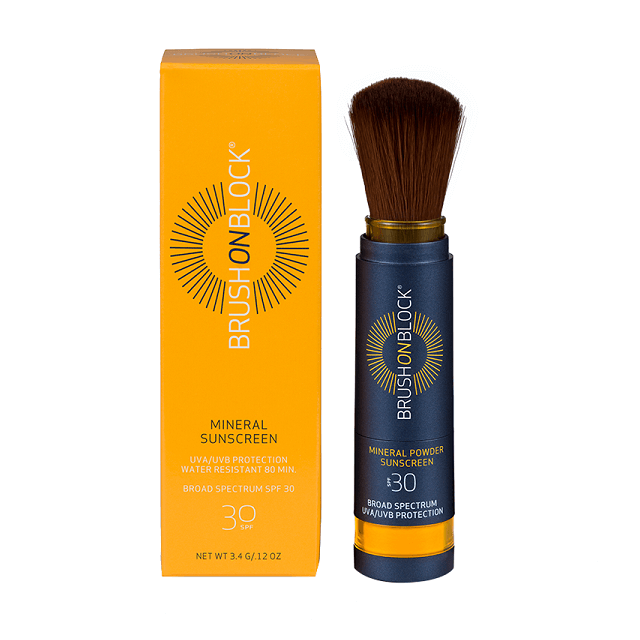 BRUSH ON BLOCK - SPF 30 Tinted Mineral Powder Sunscreen - Touch of Tan