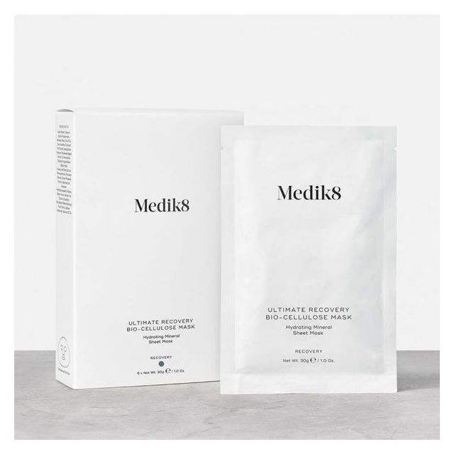 Medik8 Ultimate Recovery™ Bio-Cellulose Mask with box