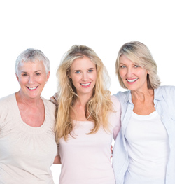 3 ladies of varying skin ages